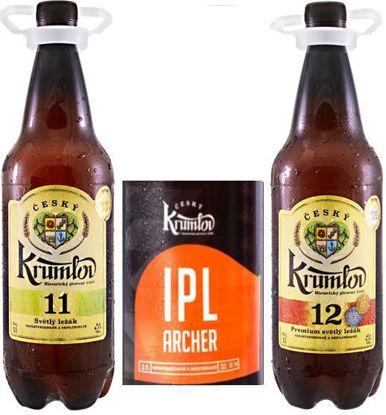 Dva ležáky a jeden speciál, Krumlov 11, Krumlov 12, Krumlov 15 IPL v 1l PET v dárkové krabici.