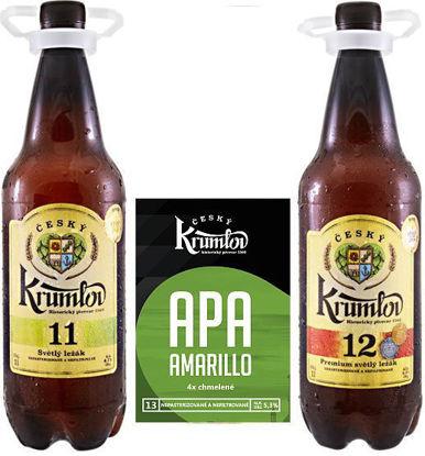 Dva ležáky a jeden speciál, Krumlov 11, Krumlov 12, Krumlov 13 APA AMARILLO v 1l PET v dárkové krabici.