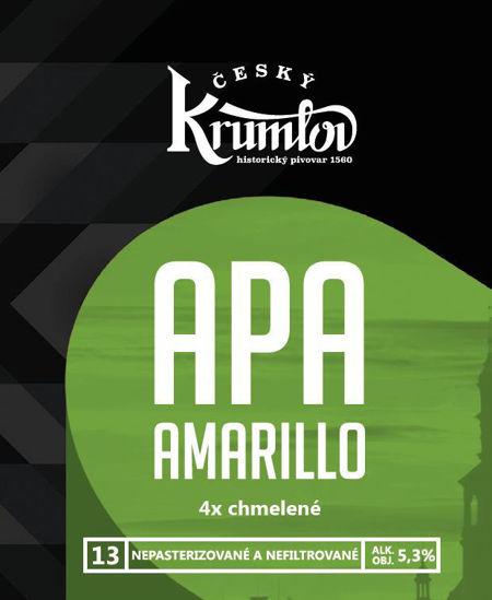 Pivo Krumlov APA 13 Amarillo, 5,3% alk.,PET 1,0l